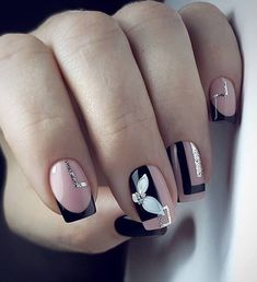 AND HOTTEST FRENCH NAIL ART DESIGNS IDEAS 2019 : French manicure creates a long lasting visual effect on the fingers, and now French manicures are derived from a variety of color variations, and there are a variety of nail inspirations that are i Square Nail Designs, Cute Nail Art Designs, Colorful Nail Designs, Nail Color Designs, French Nails, French Manicures, Winter Nails, Summer Nails, Spring Nails