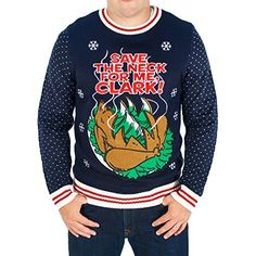 Ugly Christmas Sweater - Kiss my ass - Christmas Vacation Clark ...