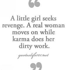 Karma really did the job, while he seeking jealous-fueled revenge proved to be futile.