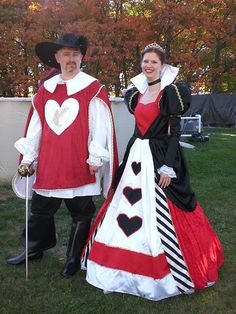 Queen and king if hearts