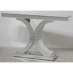 Image of Modern Design Mirrored Double C Console