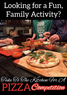 Looking for a fun, family activity that even teenagers will enjoy? Take to the kitchen and challenge your crew to a friendly pizza competition. The kids will have fun doing it, and the added bonus is dinner will be done! Pizza Recipes, Cooking Recipes, Family Activities, Teenagers, Fun Things, Breads, Competition, Healthy Living, Good Food