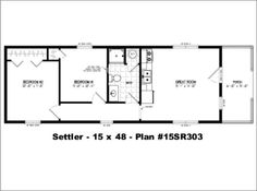 Little House on a Trailor 16 x 40 Floorplan | Tiny Living ...