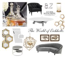 """""""The Glamorous World of Eichholtz Interiors"""" by thehouseologists ❤ liked on Polyvore featuring interior, interiors, interior design, home, home decor, interior decorating, Eichholtz and contemporary"""
