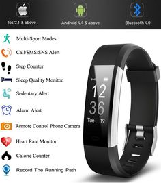 Fitness Tracker HR, Activity Tracker with Wrist Based Heart Rate Monitor, Waterproof Smart Bracelet with Step Tracker Sleep Monitor Calorie Counter Pedometer Watch for Android and iOS Best Fitness Tracker, Waterproof Fitness Tracker, Calorie Counter, Fitness Activities, Smart Bracelet, Heart Rate Monitor, Sport Wear, Physical Fitness, Workout Wear