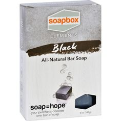 Soapbox Bar Soap - Elements - Detox - Black - 5 Oz