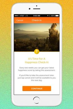 Happify is an app designed to teach you skills to improve your overall happiness