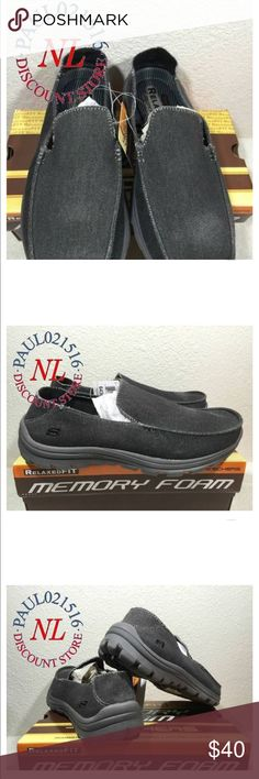 Men's Sketchers Slip on memory foam shoes Men's Sketchers Superior slip on canvas shoes with memory foam. Brand new with tags no box Skechers Shoes Loafers & Slip-Ons