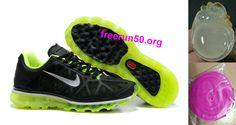 Womens Nike Air Max 2011 Black/Summit White/Neon Lime Sneakers
