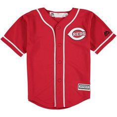 25fdc61a5d0 Toddler Cincinnati Reds Majestic Red Alternate Cool Base Jersey