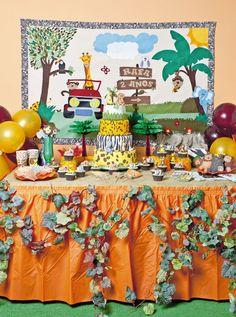 Painel de floresta em patch apliquê para festa infantil / DIY, Craft, Upcycle