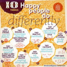 10 Things Happy People Do Differently ByPaula Davis-Laack #infographic Positive Psychology, Psychology Today, Meditation, Poems Beautiful, Career Quotes, Social Activities, Passion Project, Just Smile, Happy People