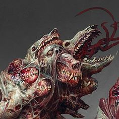 ArtStation - Acolyte of the Caul, mike franchina Monster Concept Art, Monster Art, Fantasy Kunst, Dark Fantasy Art, Creature Concept Art, Creature Design, Horror Monsters, Scary Monsters, Lovecraftian Horror