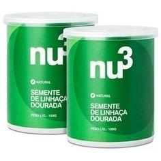 Clique para comprar Semente de Linhaça, 100g, Nu3 Natural. Farinha sem glúten, 100% natural, ideal para adicionar em sucos, smoothies, frutas e bolos! - Natue