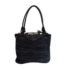 Sac porté épaule jean recyclé et simili cuir création mademoizailes.fr
