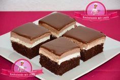 Nutella Schnitten Zutaten für den Kuchenteig 4 Eier 3 Esslöffel Backkakao 100ml…