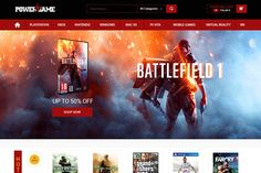 Game Shopping Website | We Love Free PSD