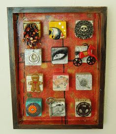 Obtainium Art - A gallery of assemblage works: Assemblage Boxes