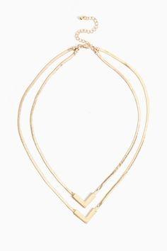 Double Arrow Necklace