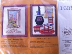 Cross Stitch Kit by Creative Circle Potbellied Stove Apples Cat Country | eBay
