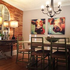 Dining Room Wall of Cedar shims... By Sears House Designery