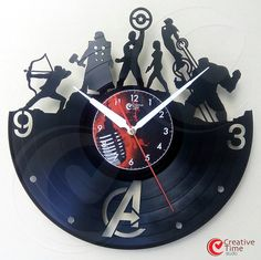 Vinyl wall clock  The Avengers by CreativeTimeStudio on Etsy