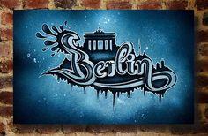 Berlin Graffiti Leinwand Berlin – Die Stadt, die niemals schläft Streetart, Stencil, big Citys, Street art, Graffiti, sprühen, Berlin, Brandenburger tor, Bundeshauptstadt , Jonas Heinevetter, Kunst, Design, Reichstag, East Side Gallery, Berliner Dom, East Side Gallery, Potsdamer Platz, KaDeWe, Skyline, Big City Designs
