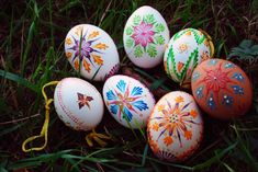 Slovak Hand Painted Easter Eggs  •  Free tutorial with pictures on how to make a decorative egg in 3 steps