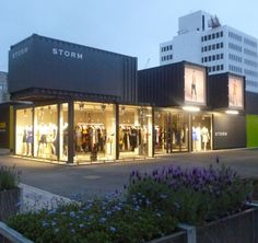 Temporary shopping center made from shipping containers in Cashel NZ
