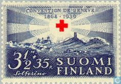 Finland - 350 35 blue 1939 Russian Revolution, 12th Century, Red Cross, Postage Stamps, Finland, Blue, Color, Art, Stamps
