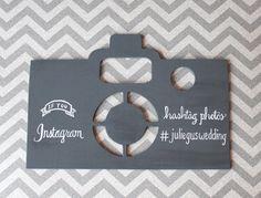 Wooden Instagram Wedding Sign by #poshandprep #weddings #calligraphy #handpainted #custom #weddingseason
