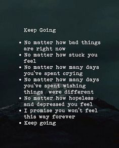 Keep going..