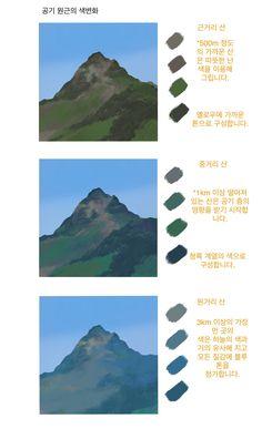 Reference color palette depth of field digital Digital Painting Tutorials, Digital Art Tutorial, Art Tutorials, Painting Process, Process Art, Concept Art Tutorial, Paint Tool Sai, Coloring Tutorial, Landscape Drawings