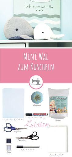 Mini Wal zum Kuscheln - Freebook auf meinem Blog