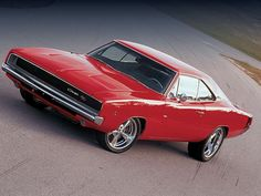 68 charger red and black. Ugly rims though
