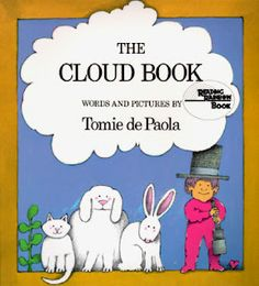 Cute idea to use with book about clouds.