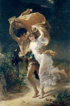 The Storm(1880), oil on canvas, Metropolitan Museum of Art, New York City ~ by Pierre Auguste Cot