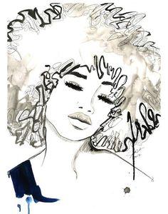 Jessica Illustration by AphroChic, via Flickr