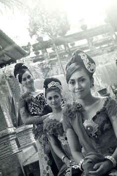 three beauties from bali