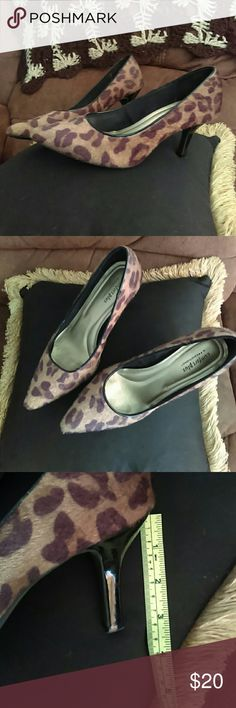 Comfort Plus Leopard Heels Leopard heels gently worn . These are a reposh I purchased for my mom. Seller listed as a size 9 however these are a 8 1/2 W (wide) in awesome condition. Just don't have a need for them. Accepting offers. Need sold!! comfort plus Shoes Heels