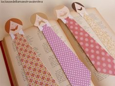 marcador de livros de gravata