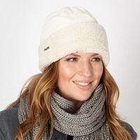 Cream fleece hat