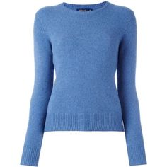 Polo Ralph Lauren ribbed crew neck jumper ($152) ❤ liked on Polyvore featuring tops, sweaters, jumper, blue, long sleeved, jumpers sweaters, blue sweater, polo ralph lauren sweater, blue top and ribbed crew neck sweater