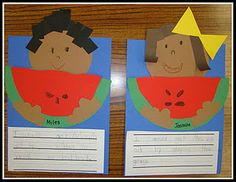 Cute watermelon craft/writing activity for spring.