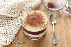 Prepara sencillos tiramisús en vasitos individuales con nutella.Perfecto para un postre sencillo y e... - Rebañando