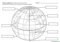 Parallels and meridians: information and activities - Teacher& website - Parallels and meridians: information and activities – Teacher& website - Geography Worksheets, Social Studies Worksheets, Teaching Geography, Social Studies Classroom, Teaching Social Studies, Worksheets For Kids, Teaching Kids, Science For Kids, Science And Nature