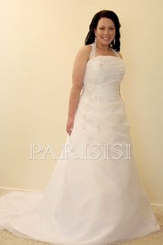 Plus Size Wedding Dress size 16 - 28 White or Ivory price USD $175 - PARISISI ONLINE DISCOUNT SHOP