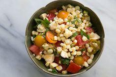 Caprese Corn Salad - summer! (SimplyRecipes)