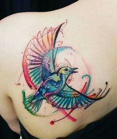 Einfach nur 37 megaschöne Watercolor-Tattoos