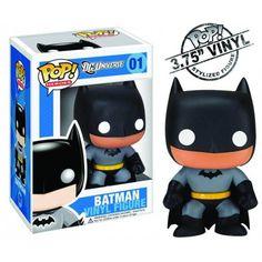 DC Universe POP Heroes Black Batman Vinyl Figure